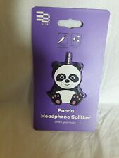 CUTE PANDA HEADPHONE SPLITTER - BRAND NEW