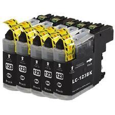 5 Cartuchos de tinta Non-Oem para Brother LC123 DCP-J132W DCP-J152W DCP-J552DW