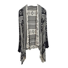 Premium Tribal Aztec Geometric Print Kimono Cardigan Blouse Poncho Sweater Top