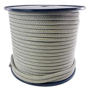 14mm Grey Quality Double Braid on Braid Polyester Mooring Marine Rope
