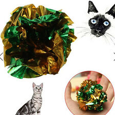 2x Crinkle Crackle Papier Rustle Sound Ball Katze Kätzchen Pet Fun Activity Toy