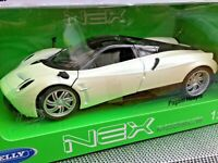 WELLY 24088BU 24088W PAGANI HUAYRA model cars dark red pearl white black 1:24th