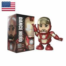 Marvel The Avengers Superhero Iron Man Electronic Dancing Robot Toy Music&Light