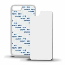 5 x Blank Heat Sublimation 2D Printing Phone Case Plastic For Mobiles - WHITE