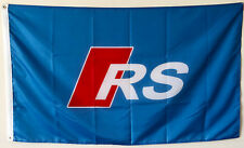 AUDI RS BLUE FLAG BANNER 3X5FT FLAG US SHIPPER