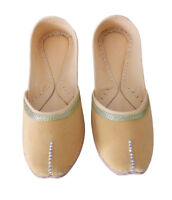 Women Shoes Indian Handmade Traditional Cream Loafers Jutties UK 7-9.5 EU 41-44