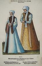 Jost Amman Tracht Augsburg seltener prachtvoll kolorierter Holzschnitt 1577 2