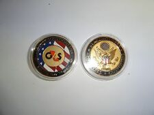 CHALLENGE COIN STAKEHOLDER EMPLOYEES CUSTOMERS SECURE SOLUTIONS USA WORLD SECURI