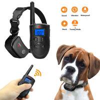 Electrique Collier Dressage anti-aboiement pour chien Réglable 300M LCD étanche