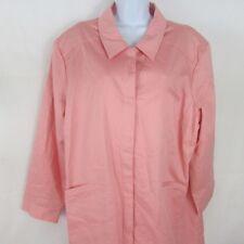 Dialogue QVC Women's Jacket Pink Plus Cotton Blend Size 24W New