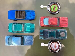 vintage lot of five hot wheels redline cars