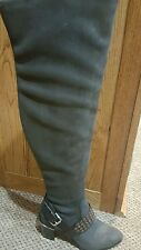 NIB Michael Kors Brody Suede over the knee boots gray 8 retail $325