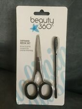 Cvs Beauty 360 Defining Brow Set With Brow Brush & Scissors - New In Package