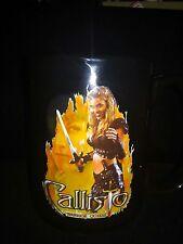 Xena black coffee mug  with Callisto(Hudson Leick) on it very rare