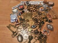 BUMPER T/HOLTZ STEAMPUNK /CHARMS  PACK 95+ ITEMS EMBELLISHMENTS ALTERED ART