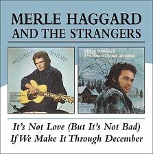 It's Not Love (But It's Not Bad)/If We Make It Through December [Slipcase] by Merle Haggard (CD, Feb-2005, Beat Goes On)