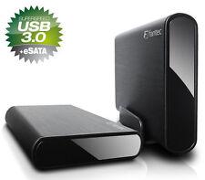 3000gb EXTERNE FANTEC db-alu3e disque dur usb 3.0 - eSATA-Alu-BLACK - 3tb