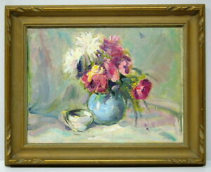 Wakeford Gerald Dix (b. July 4, 1888-d. 1970).- STILL LIFE with FLOWERS #5