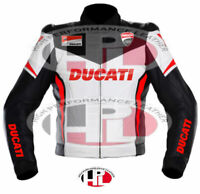 New Motorbike Ducati Racing Leather Jacket Motorcycle Ducati cose Riding  jacket