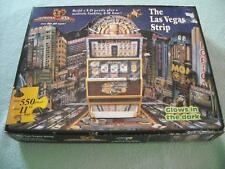 Slot Machine Las Vegas Strip Casino 550 pc Puzzle 3D Glows In The Dark New