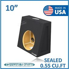 "10"" Single Sealed Sub box Subwoofer Enclosure Speaker box Ground Shaker box"