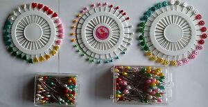 Stecknadeln Perlenkopf 38, 46, 55 und 65 mm lang Teppichstecknadeln Dekonadeln