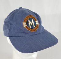 Vtg 1998 Milwaukee Brewers Inaugural NL Season Snapback Cap Dad Hat Denim SGA