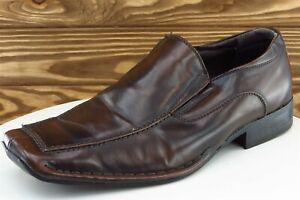 Borelli Shoes Sz 9 M Brown Loafer Leather Men Miami