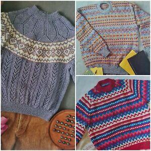 1991 Aran Fair Isle Wool Embroidery Poppy Knitting Pattern Better Homes Gardens