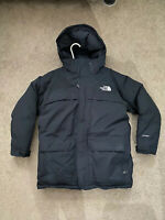 TNF The North Face Boy's Black Hooded Parka Size Large Hyvent