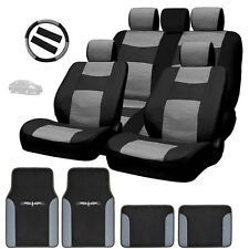 New Semi Custom Syn Leather Seat Covers Split Seat Vinyl Mats BG Set For Nissan