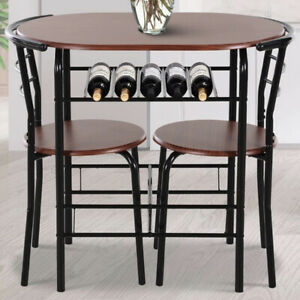 2 Seater Dining Table And Chairs Breakfast Kitchen Room Compact Furniture Set
