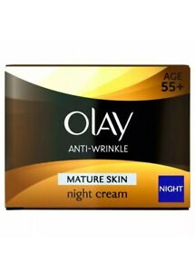 Olay Anti-Wrinkle Mature Skin Night Cream Age 55+ 50ml