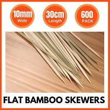 600 X Flat Bamboo Catering Skewers 30cm Meat Kebabs BBQ Gourmet Fruit Food Picks