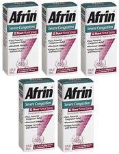 Pack 5 afrin spray nasal congestionamento 12 horas de alívio rápido Poderoso 0,5 oz