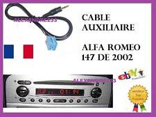 Cable adaptateur aux mp3 mini iso autoradio jack ALFA ROMEO 147 DE 2002 PHASE 1