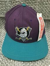 Vintage American Needle Fitted Size 7 Hat Anaheim Mighty Ducks Cap NHL Blockhead