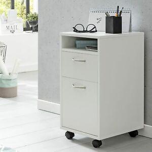FineBuy Rollcontainer Schublade Ablage Bürocontainer Schreibtisch Container Weiß