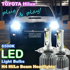 2006-2015 TOYOTA HILUX LED Headlight Upgrade Kit (2 X H4 6500K White LED Bulbs)