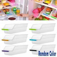 Kitchen Home Fridge Space Saver Organizer Slide Shelf Rack Holder Storage Box