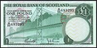 1969 ROYAL BANK OF SCOTLAND LIMITED £1 BANKNOTE * A/22 693295 * UNC *