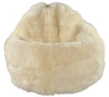 éco peau de mouton Pouf blanc court laineux bean bag