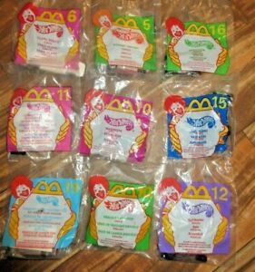 Lot Of 8 Hot Wheels McDonalds Happy Meal 1995 (2) 1998 (1) 1999 (6)