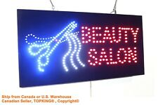 Beauty Salon Sign Haircut Barber Hairdresser neon led window store business sign