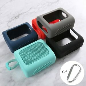 For Case JBL GO 3 Bluetooth Speaker Silicone Portable Protect Storage+Metal Hook