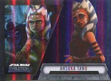 Star Wars Evolution 2016 Purple Parallel Card #11 Ahsoka Tano - Jedi Knight