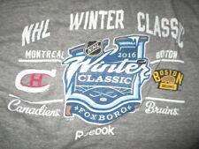 2016 BOSTON BRUINS vs CANADIENS Winter Classic FOXBORO (LG) Shirt w Roster Tags