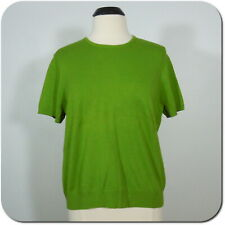 LANDS' END Women's Green Short Sleeve Sweater size XL/P