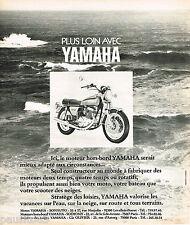 PUBLICITE ADVERTISING 055  1973  YAMAHA  moteur bateau moto