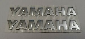 YAMAHA 3D SILVER BADGE LOGO STICKERS GRAPHICS DECALS SUPERBIKE R1 R6 MT01 MT07 .
